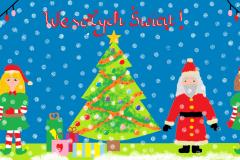 Kartka Świąteczna - Agata Ogiela kl.3b lat 9