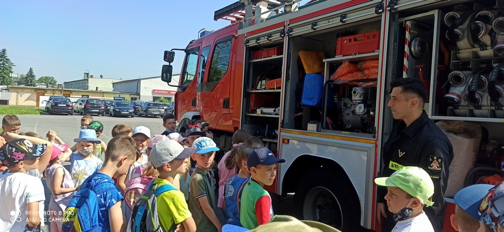 Wyjście pierwszaków do straży pożarnej